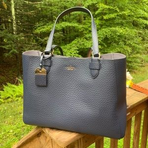 Authentic Kate Spade 2 tone pebbled leather Tote🦋